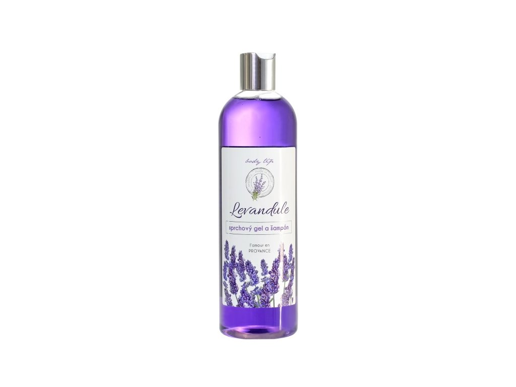 Sprchový gel a šampon s levandulovým olejem 500ml