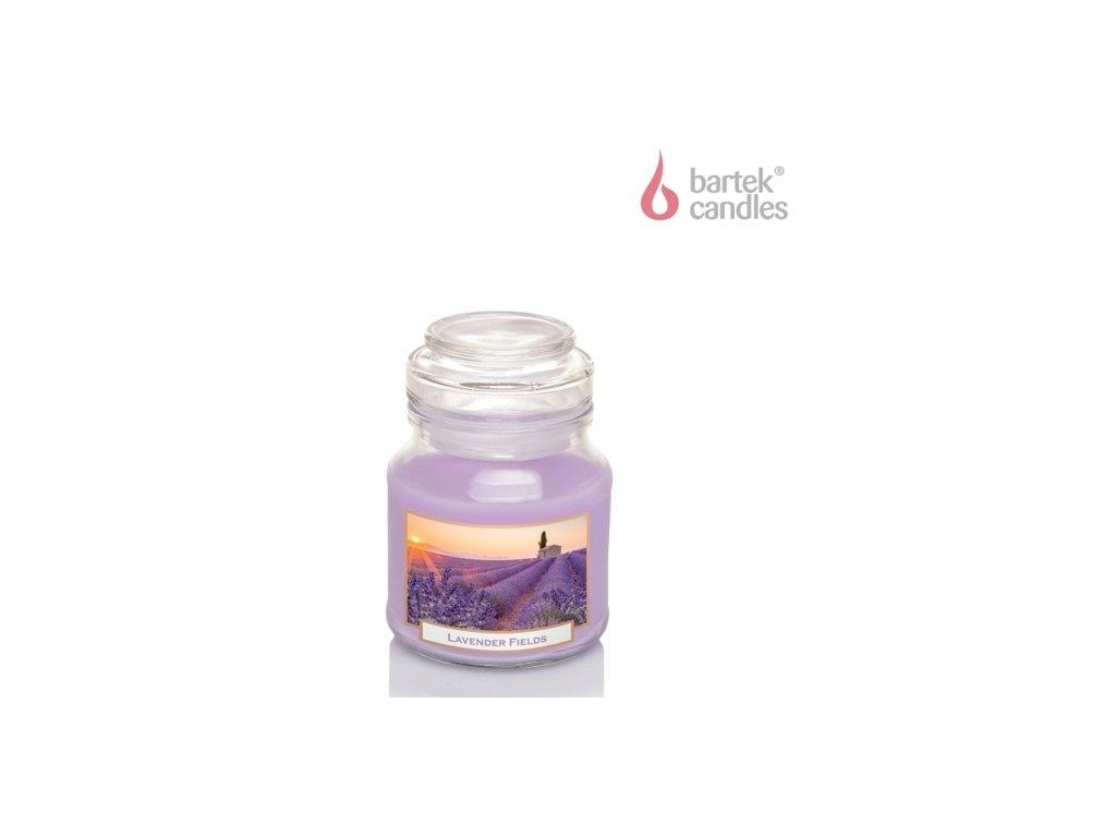 Svíčka s vůní 130g ve skleněné dóze s víčkem Levandule