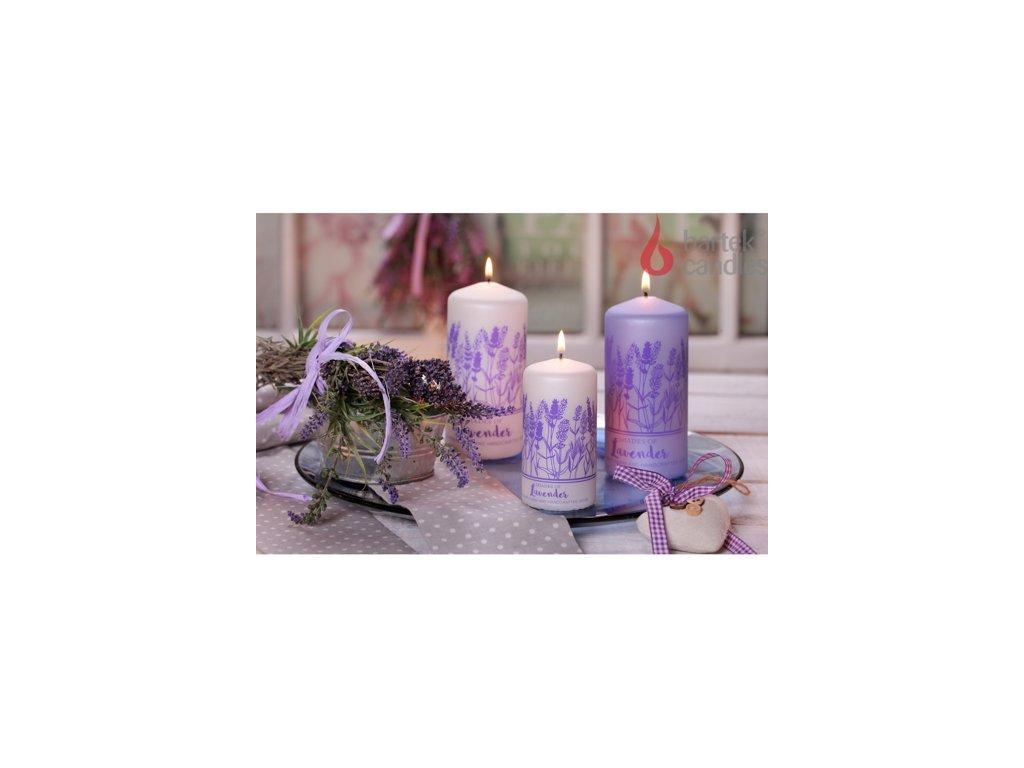 Levandulová svíčka válec