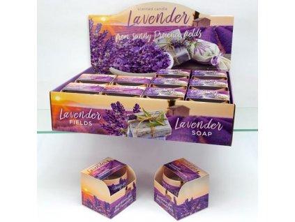 Svíčka levandule 100g Lavender Soap