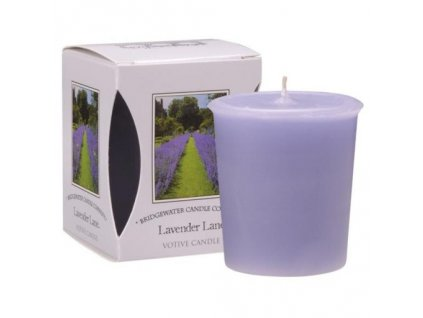 Vonná votivní levandulová svíčka