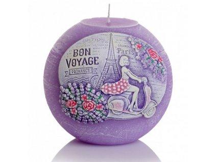 Svíčka Bon Voyage koule 10cm