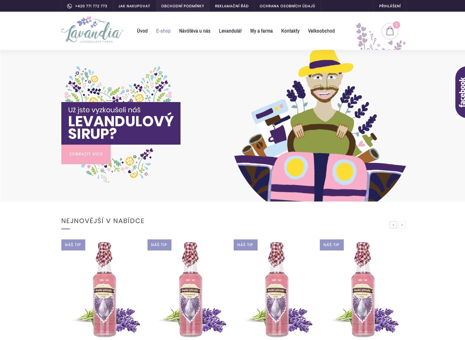Nové webové stránky, nové možnosti dopravy a platby