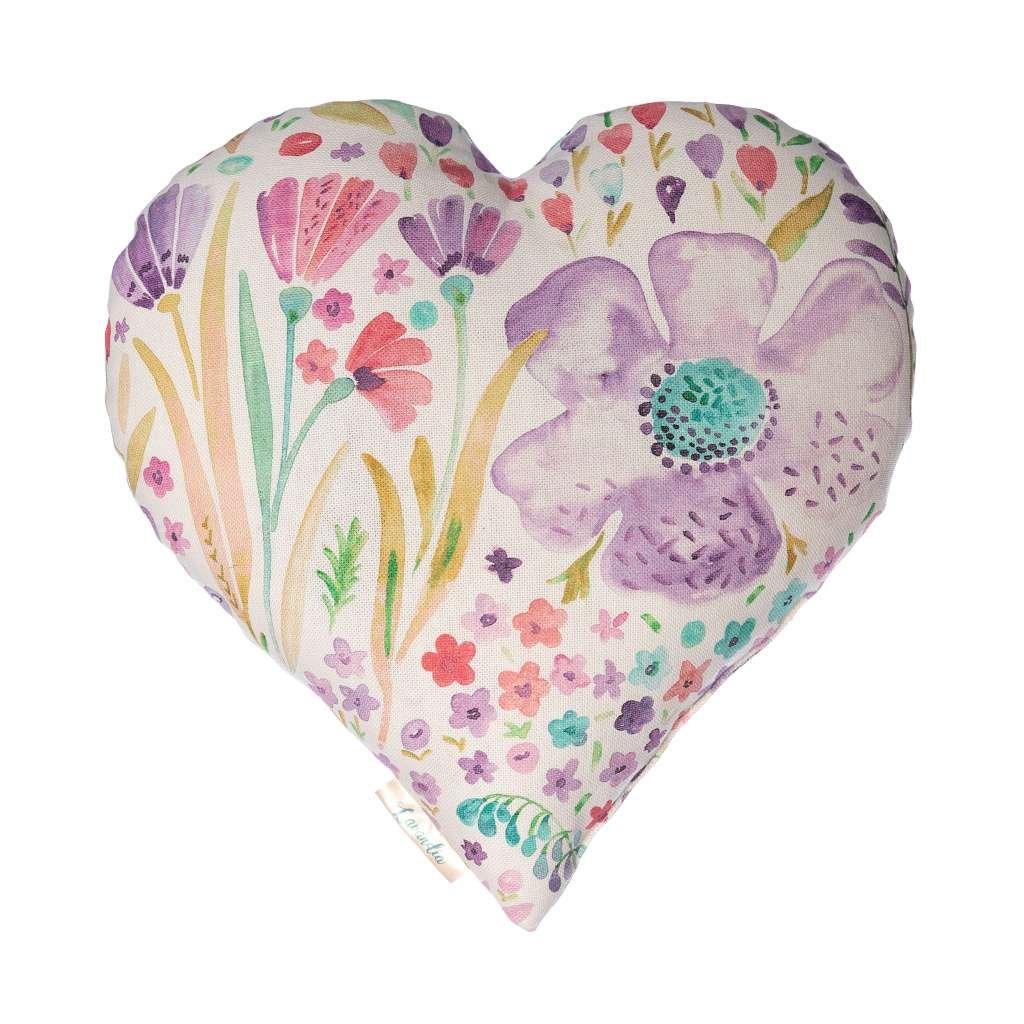 Vonný levandulový polštář srdce s BIO levandulí
