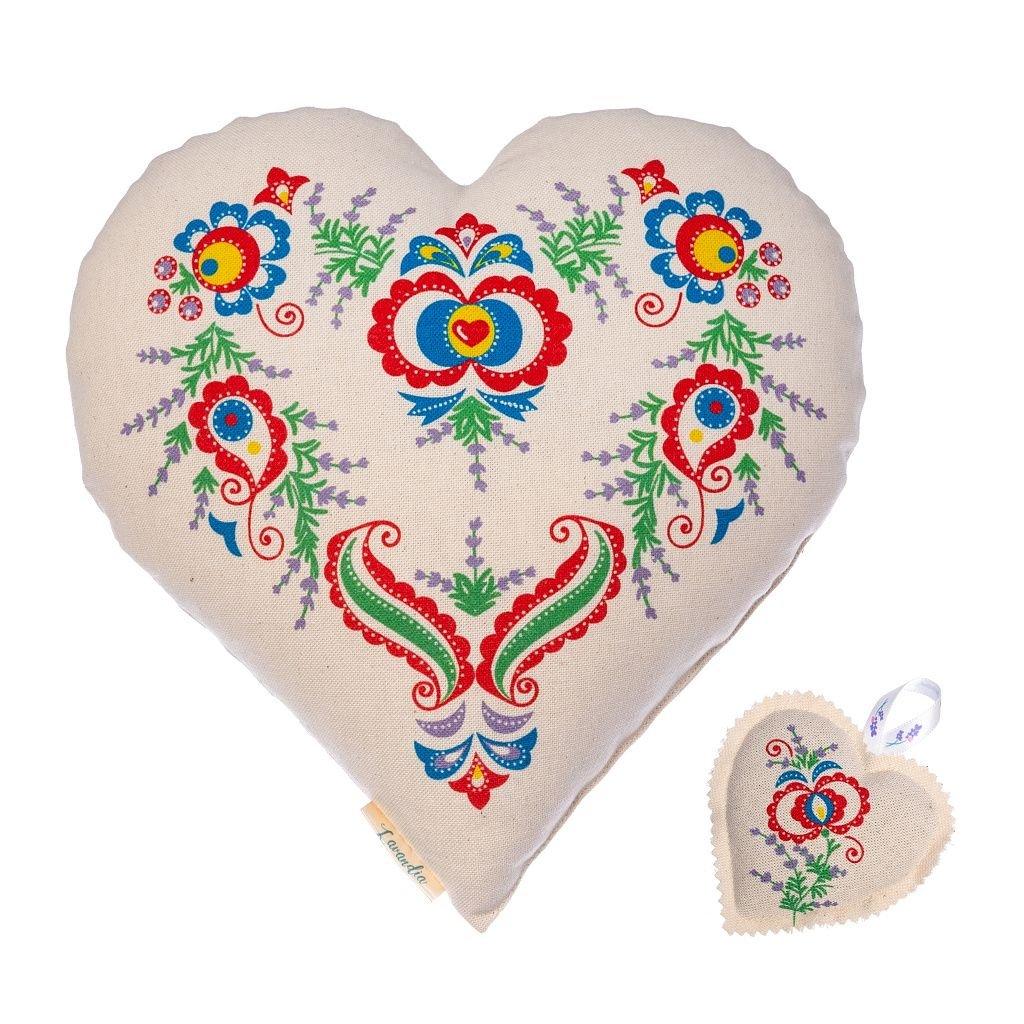 Dárkové srdce velké a srdce malé s levandulí