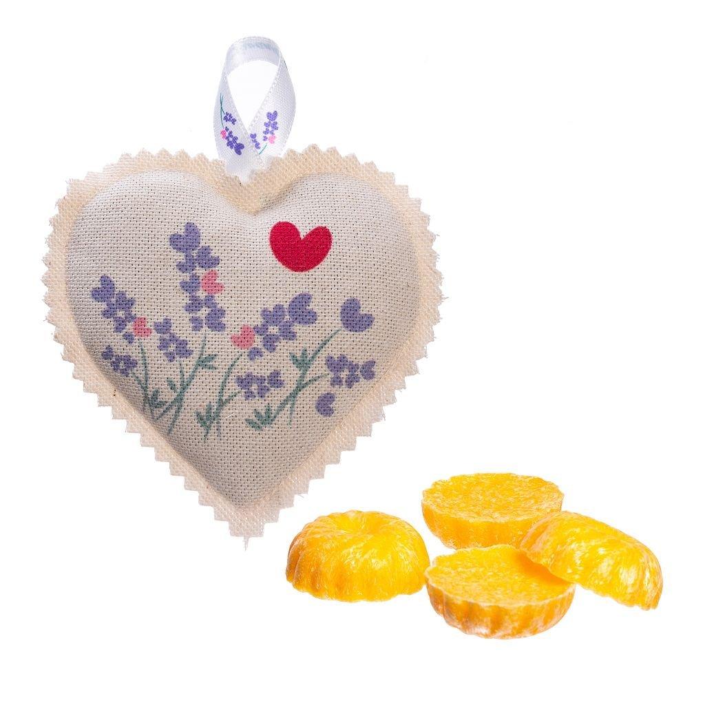 Vosk verbena a závěsné levandulové srdíčko Lavandia