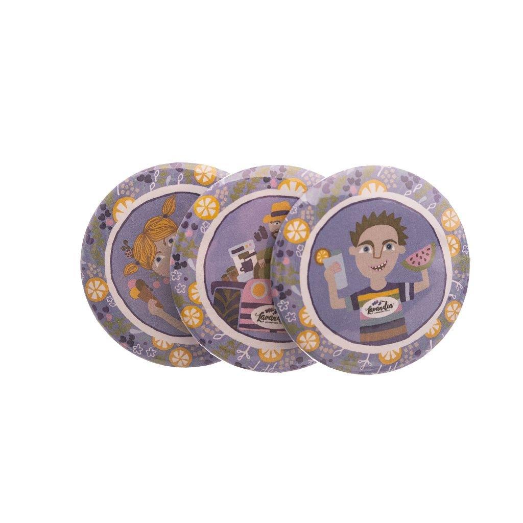 Kolekce malovaných magnetek Lavandia