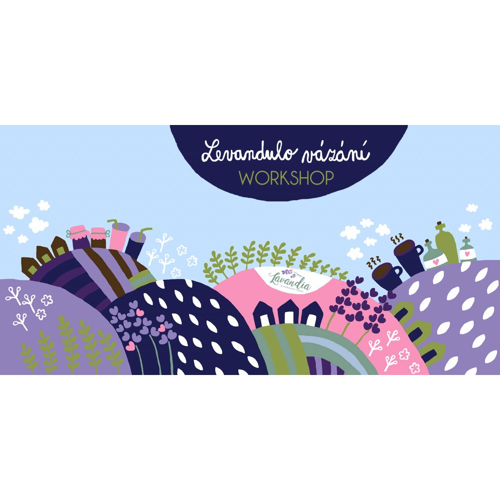 Levandulová vázáni - květinový workshop Lavandia s.r.o.