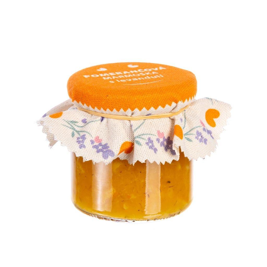 Pomerančová marmeláda s levandulí BIO