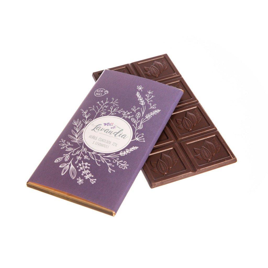 Levandulová čokoláda hořká BIO