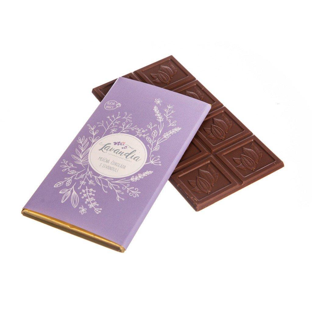 Mléčná čokoláda s levandulí BIO