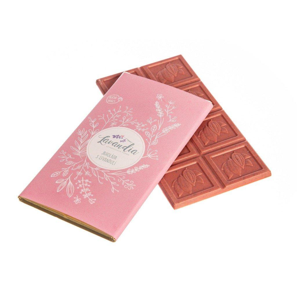 Levandulová čokoláda BIO Lavandia