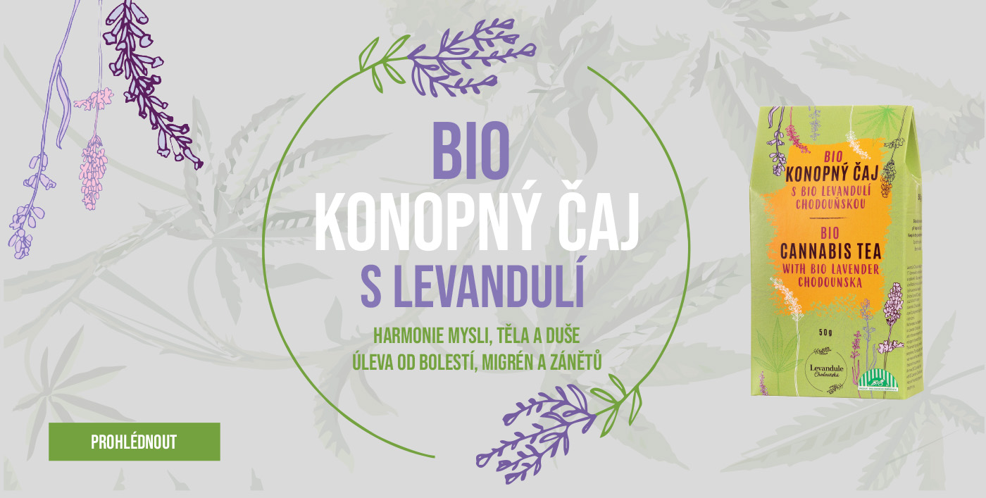 BIO konopný sypaný čaj s BIO Levandulí Chodouňskou