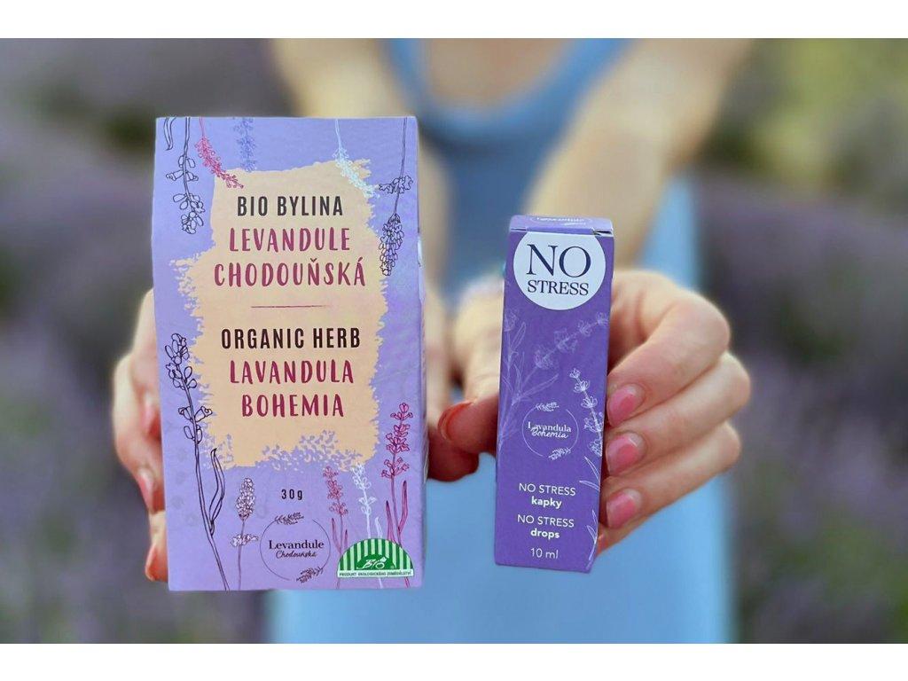 """BIO levandulový sypaný čaj z BIO Levandule Chodouňské """"naše modré zlato"""""""