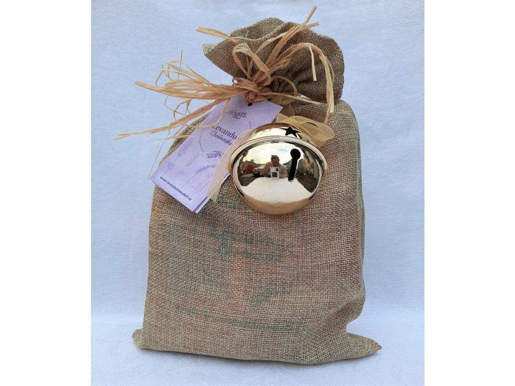 BIO dárkový přírodní balíček s Levandulí Chodouňskou a rolničkou pro štěstí