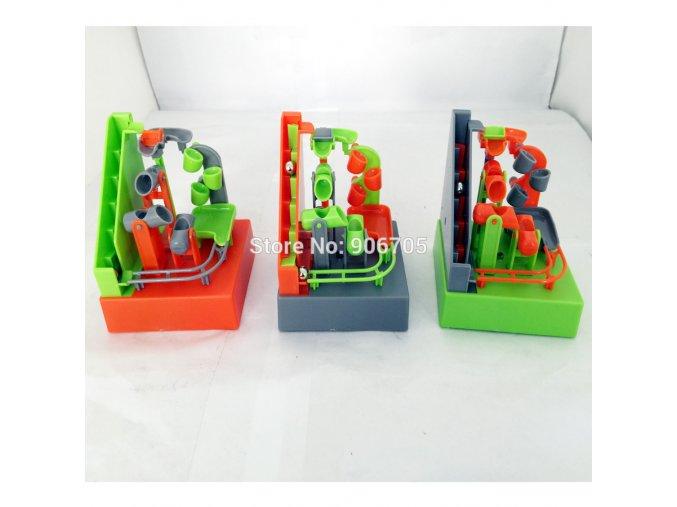 Automatická elektrická kuličková dráha - šedá/zelená/oranžová (Barvy zelená)
