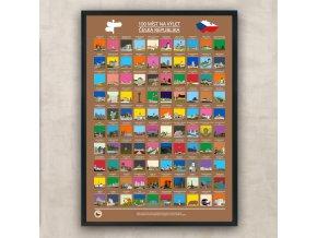 Stírací plakát Česká Republika