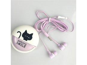 Kreslená sluchátka Lovely Cat (Barvy zelená)