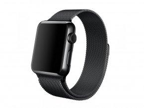 Řemínek pro Apple Watch® - milánský tah - černý, bronzový, stříbrný - 38 mm