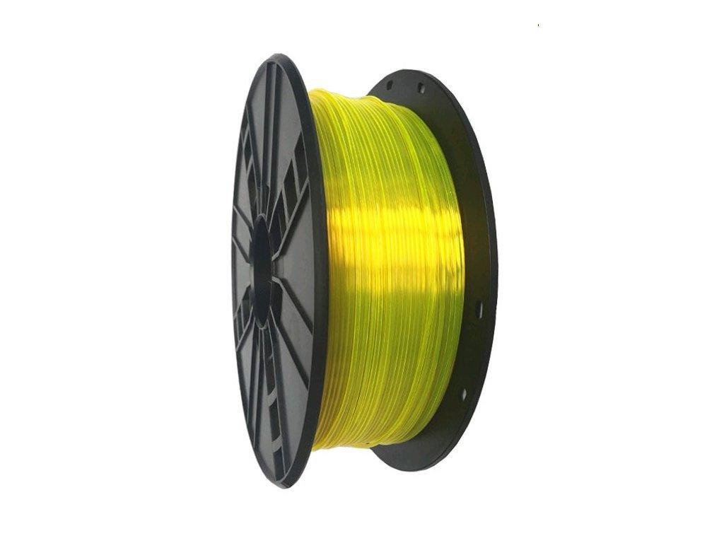 Gembird tisková struna PETG žlutá