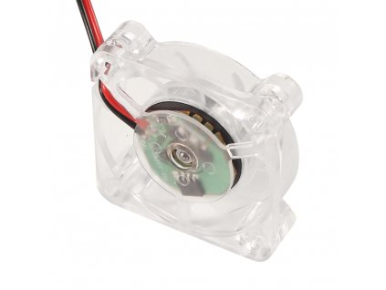 Ventilátor čirý modře podsvícený  Creality Ender 40x40x10 24V