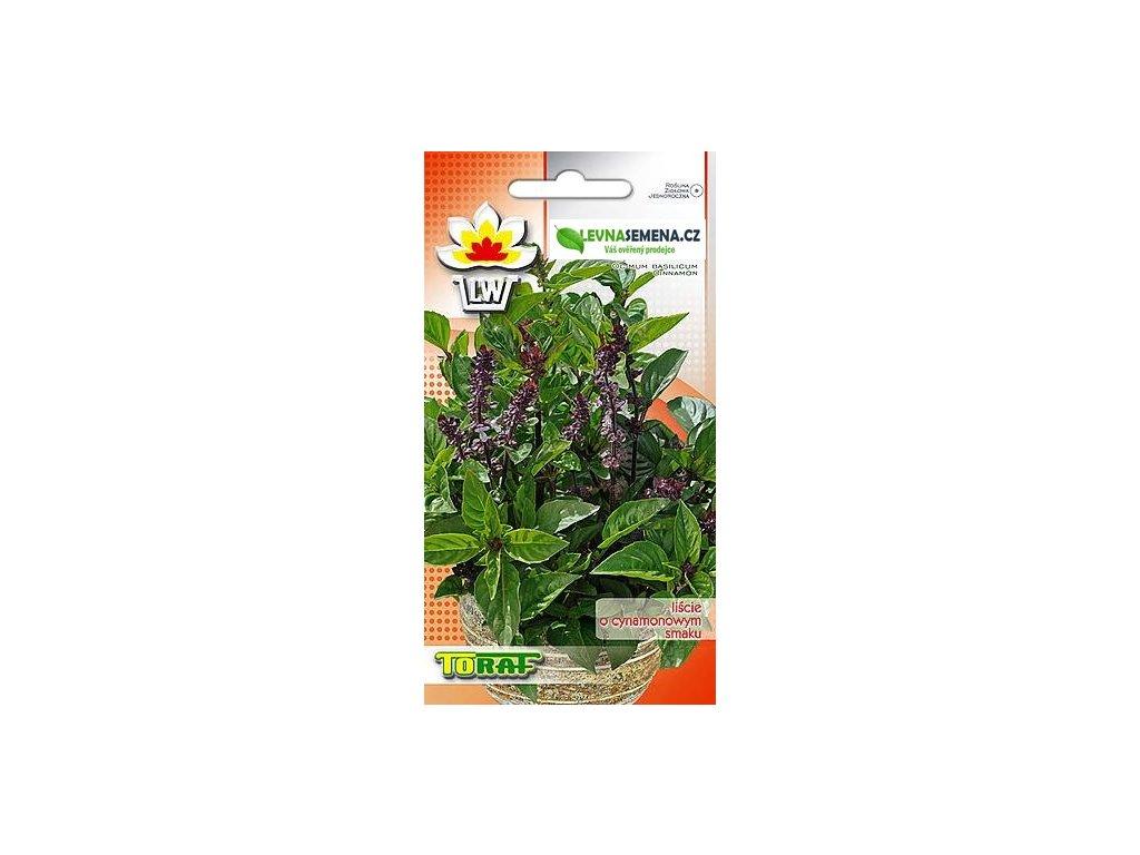 BAZALKA SKOŘICOVÁ-Ocimum basilicum cinnamon /140 SEMEN/