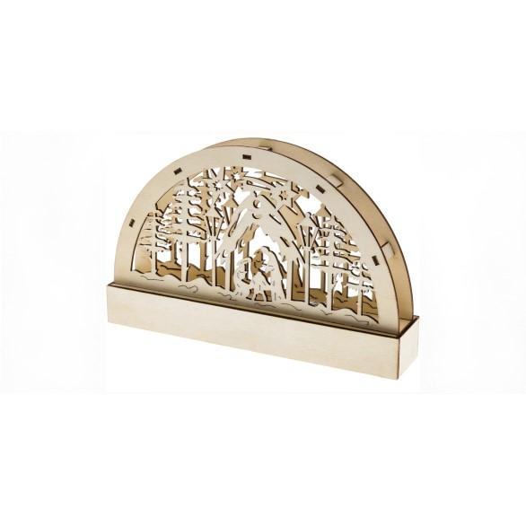 Adventní dřevěné svícny - české motivy