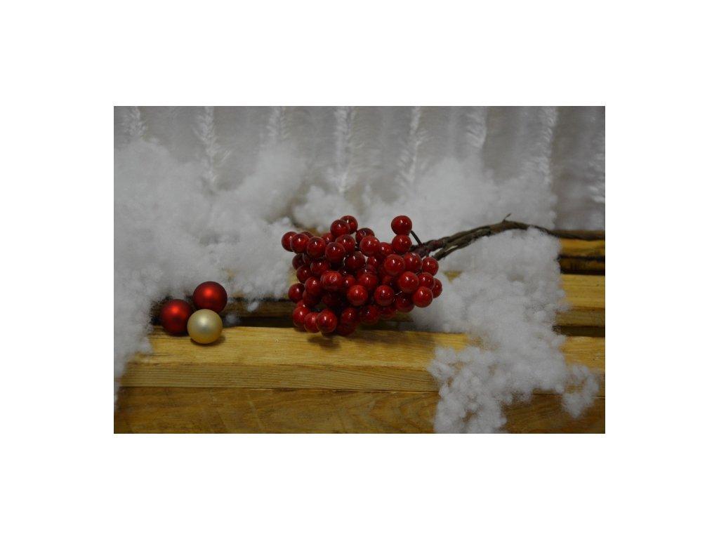 CERINO Umělá větvička dekorační bobule svazek 25cm červené