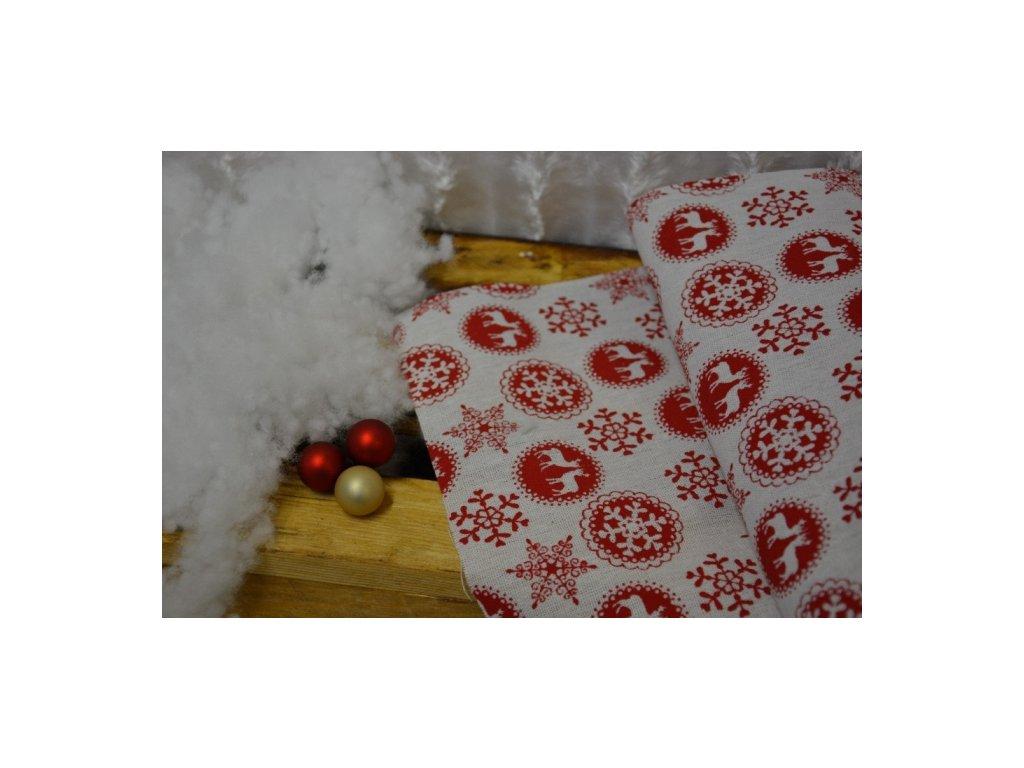 CERINO Vánoční běhoun na stůl 28 x 270cm sob