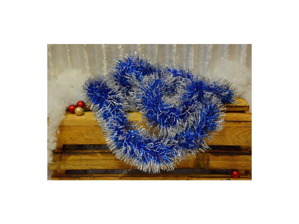 CERINO Vánoční řetěz 2m modrý třpitivý