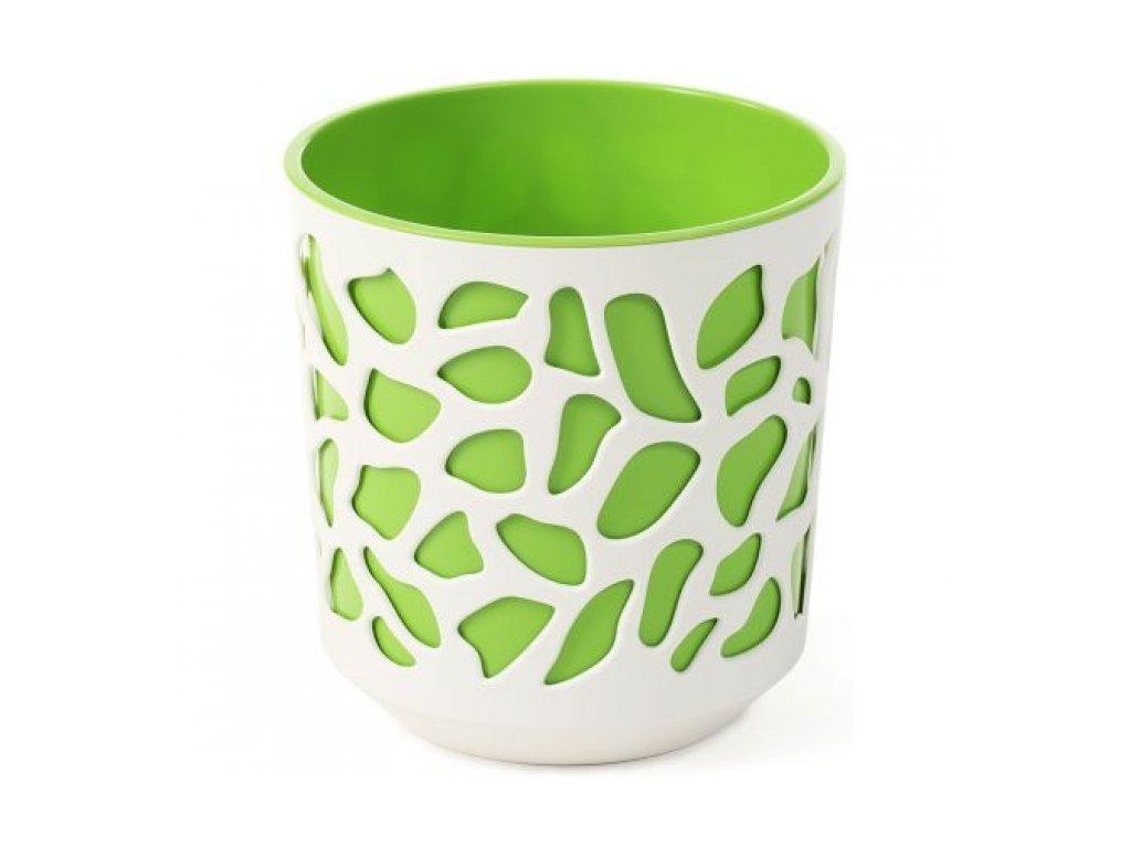 Lamela Květináč DUET 250 krém + zelený
