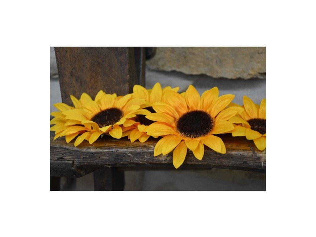 CERINO Umělá květina, květ slunečnice 12cm