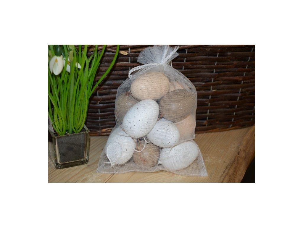 CERINO Plastová vejce v pytli 12ks