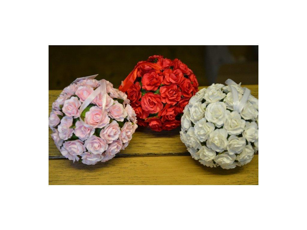 CERINO Květinová koule závěsná průměr 11cm růžová