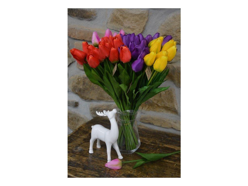 CERINO Umělá květina tulipán 54cm žlutý 1ks