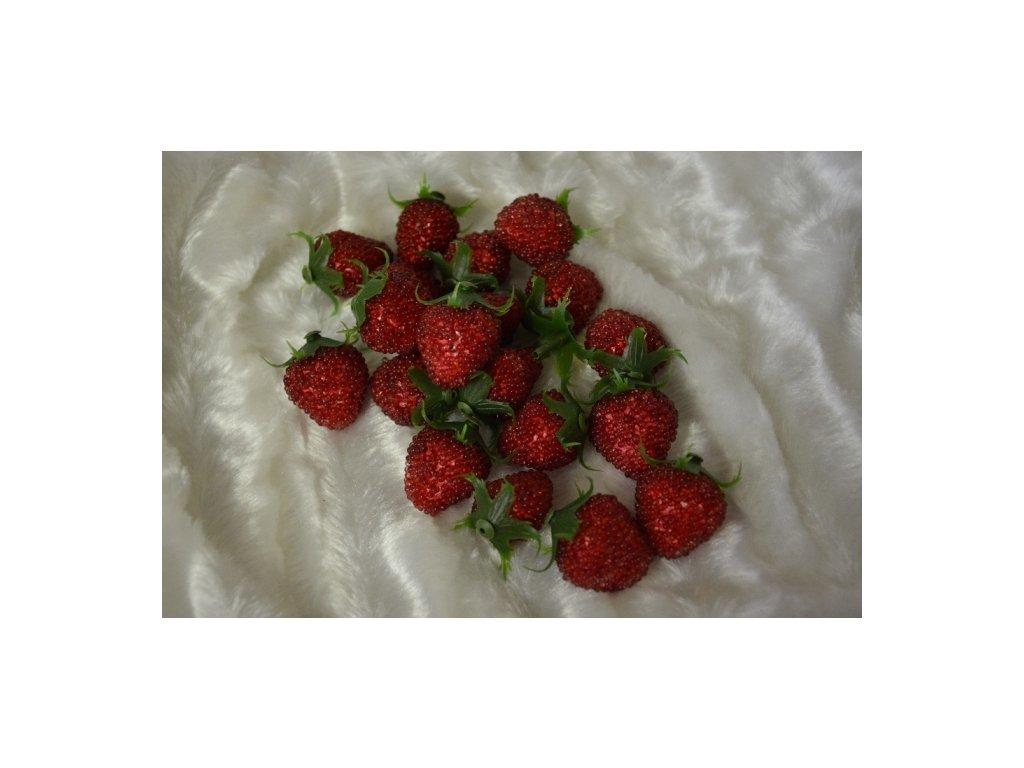 CERINO Umělá květina, jahoda plod 3,5cm