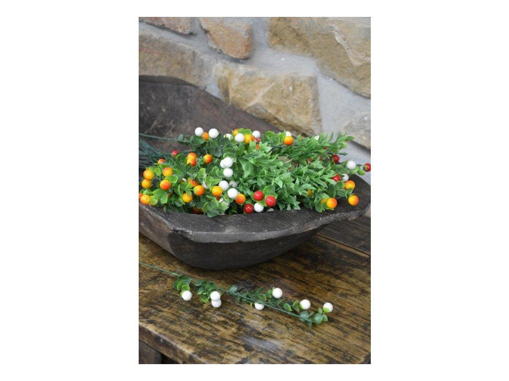 CERINO Umělá květina Bobulkovník / mix 50cm,kuličky 13cm/1ks větvičky