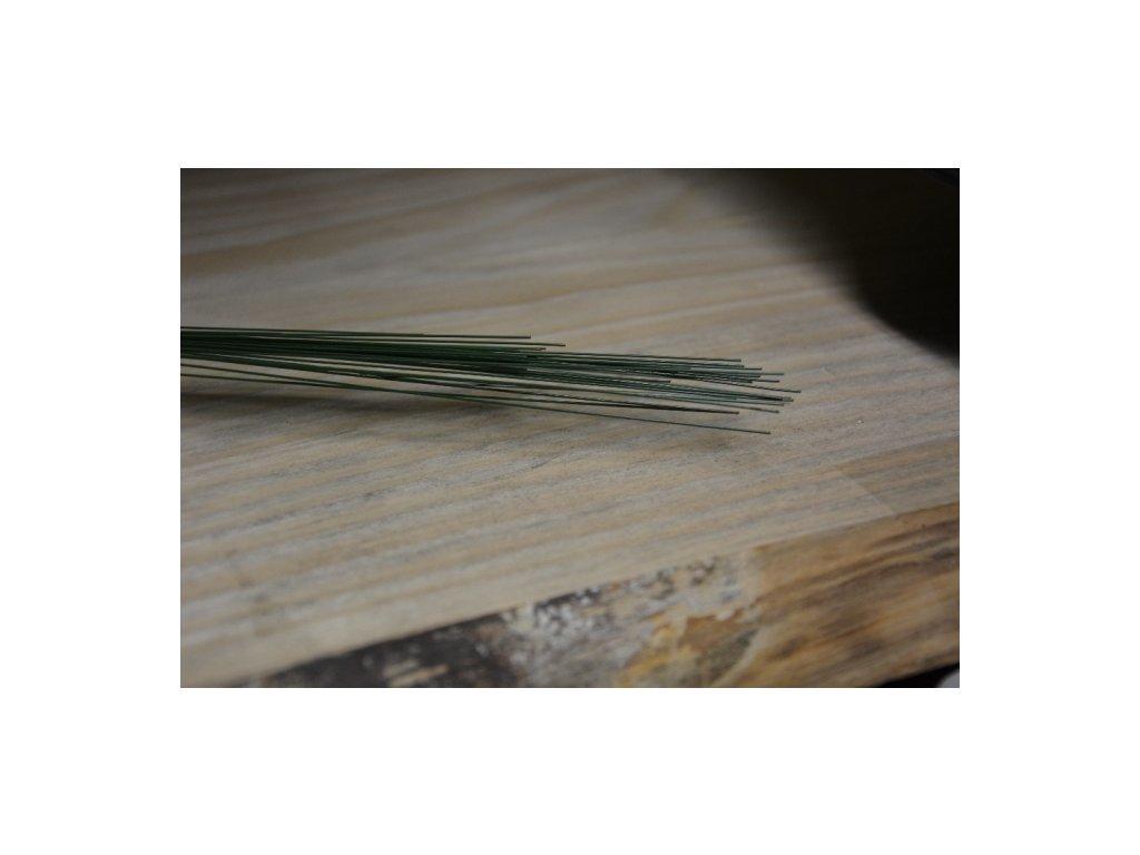 CERINO Aranžovací drátek (10ks) průměr 0,5mm 40cm zelený