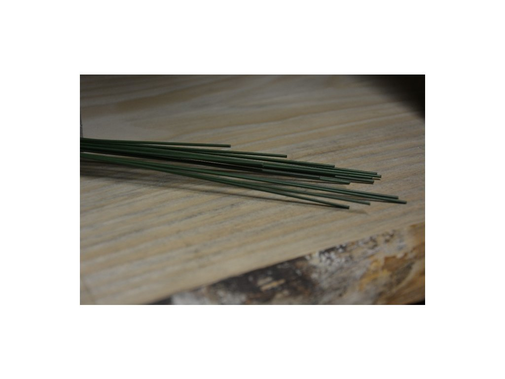 CERINO Aranžovací drátek (1ks) průměr 1,4mm 40cm zelený
