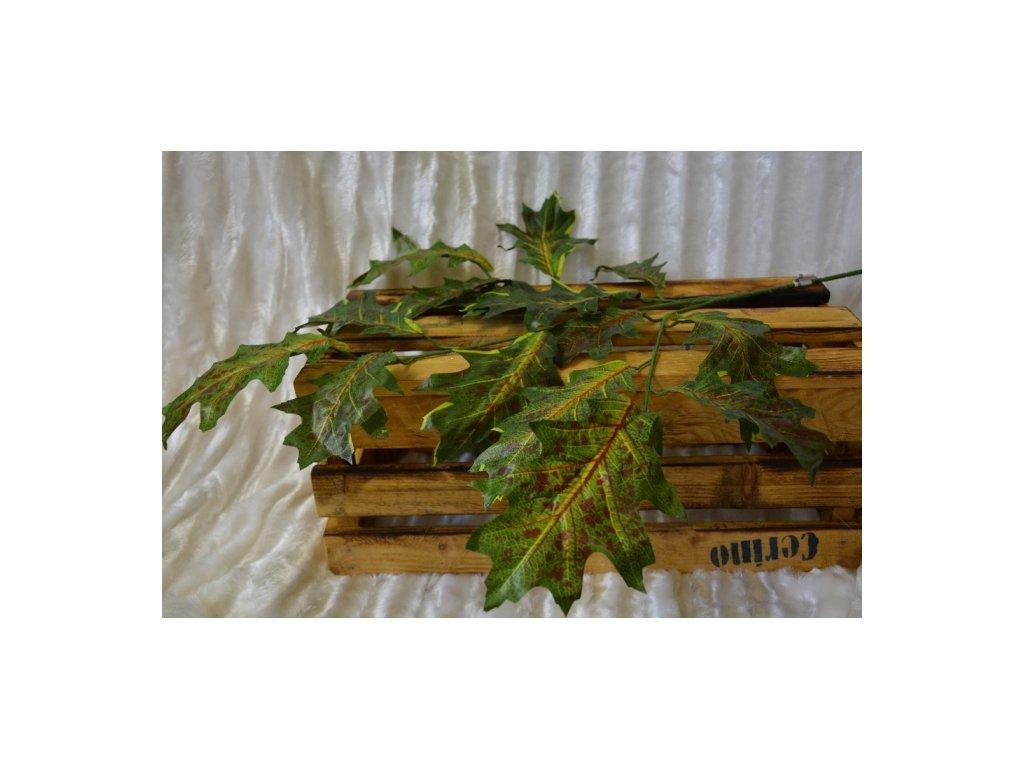 CERINO Umělá dubová větvička 75cm zelená