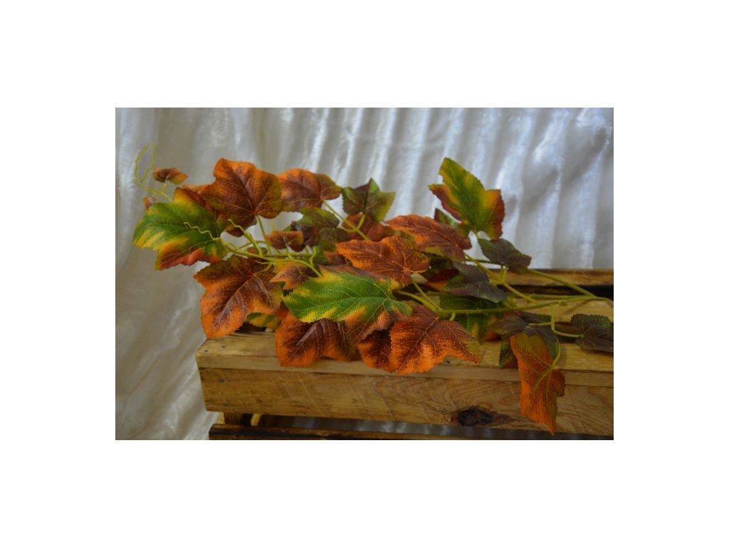 CERINO Umělá větvičky vinné révy 70cm oranžová