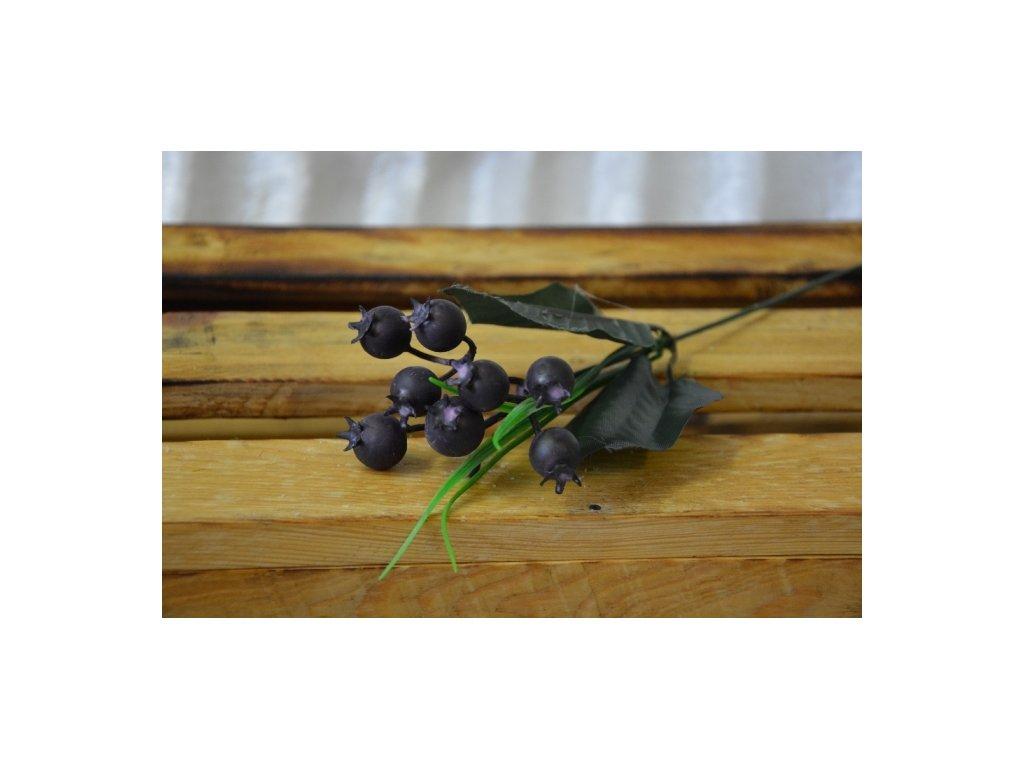 CERINO Umělá větvička bobule 35cm černá