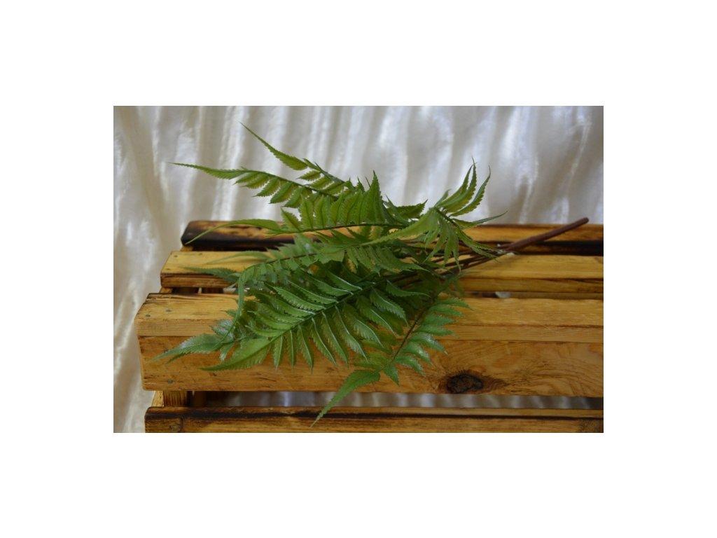 CERINO Umělá rostlina Kapradí puget 7 větviček zelené 45cm