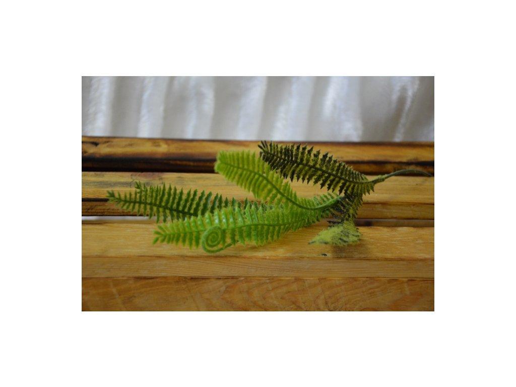 CERINO Umělá rostlina LIST Kapradí 40cm zelené - vysoká jakost