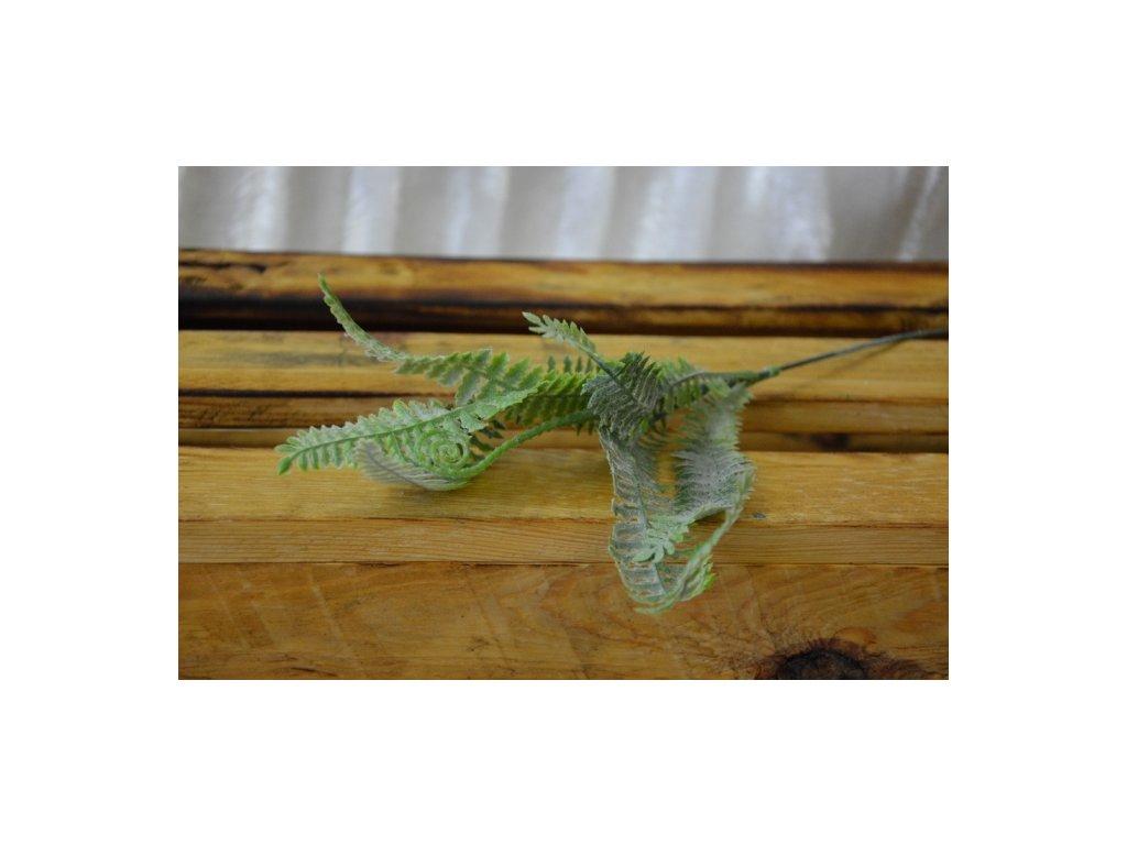 CERINO Umělá rostlina LIST Kapradí 40cm zelené sivé - vysoká jakost