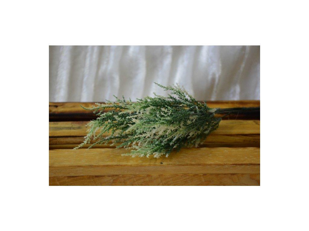 CERINO Umělá rostlina VŘES puget 40cm bílý