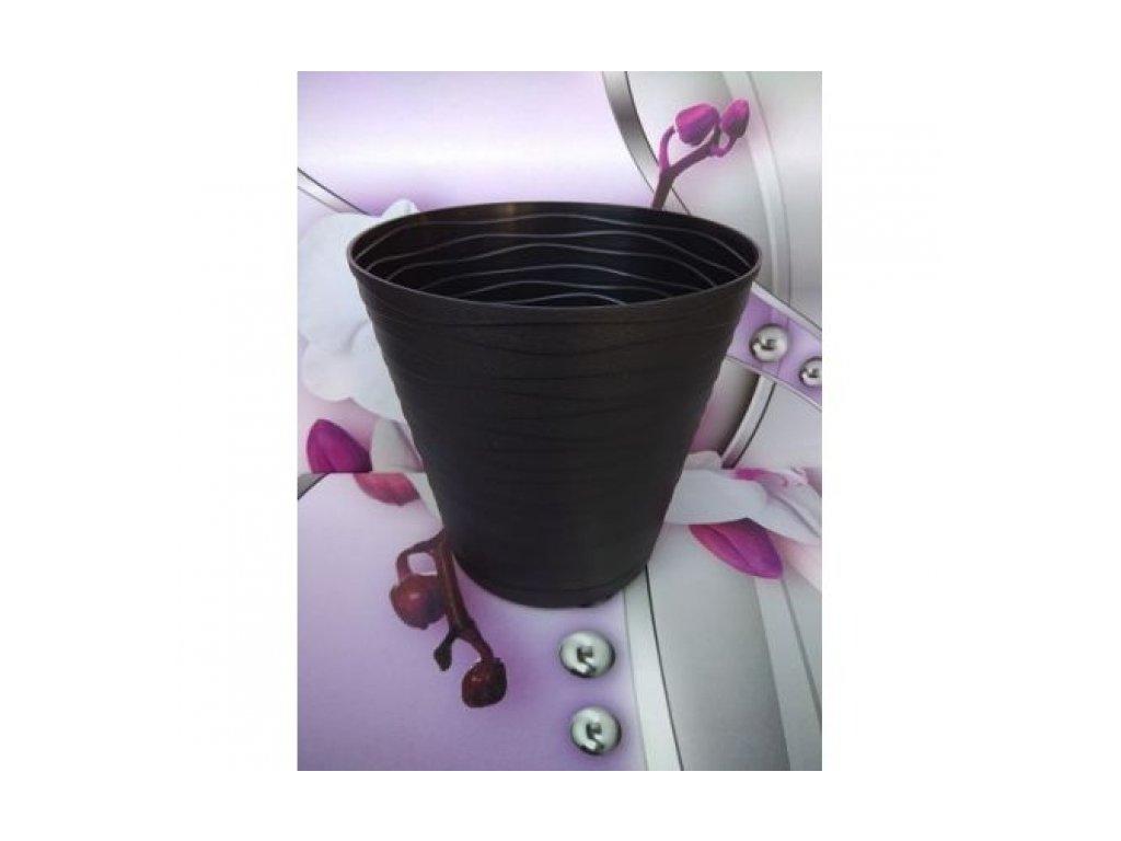 Prosperplast Květináč Tedi 17, černý