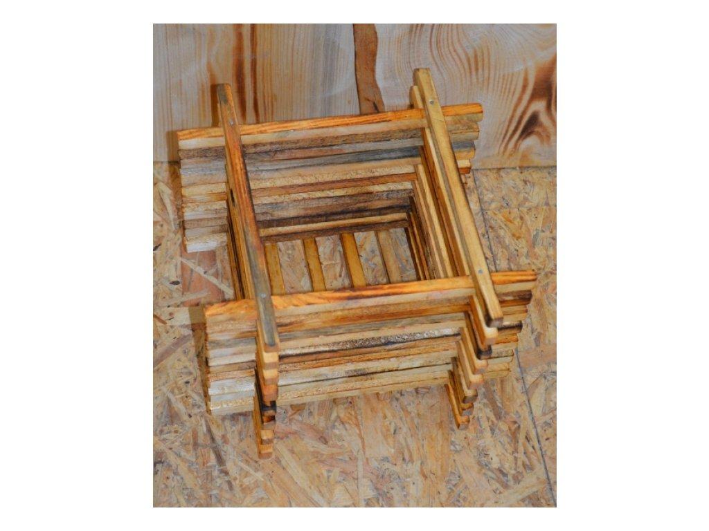 CERINO Dřevěná bedýnka - rošt