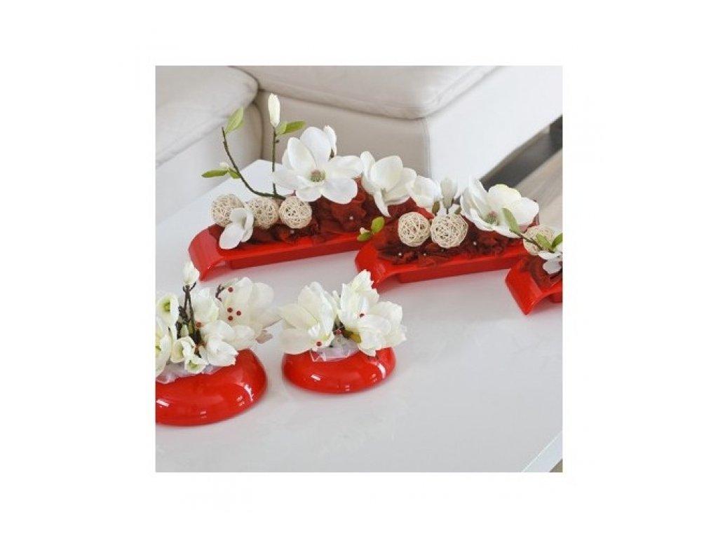 Don-plast Aranžovací nádoba Ikebana IK2 36x13 červená
