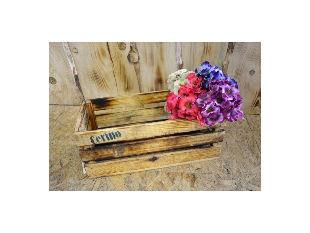 CERINO Bedýnka dřevěná 50x23x20 přírodní